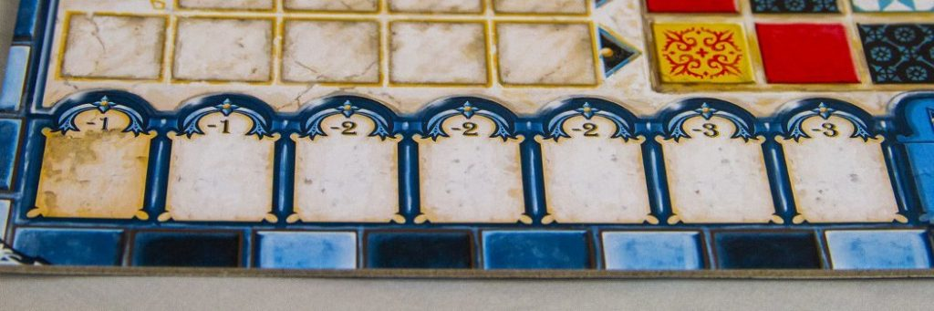 How to Play Azul - Negative Points