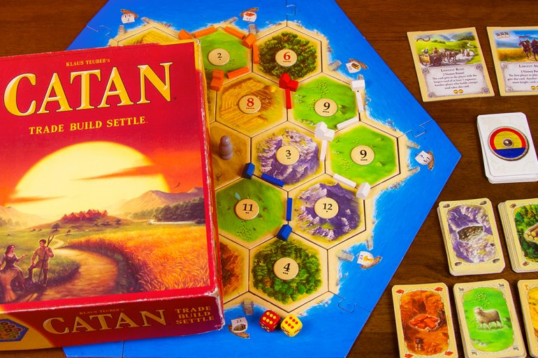 Settlers of Catan Box and Game