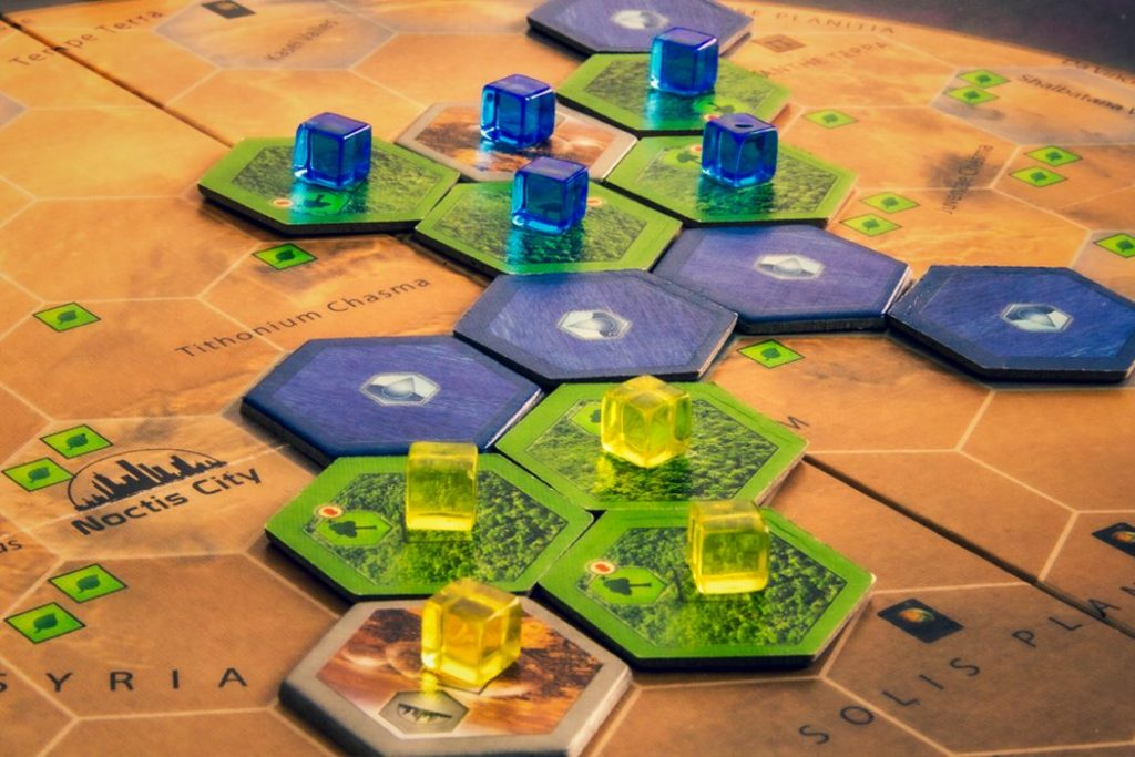 Terraforming Mars Board Game Cluster Close Up