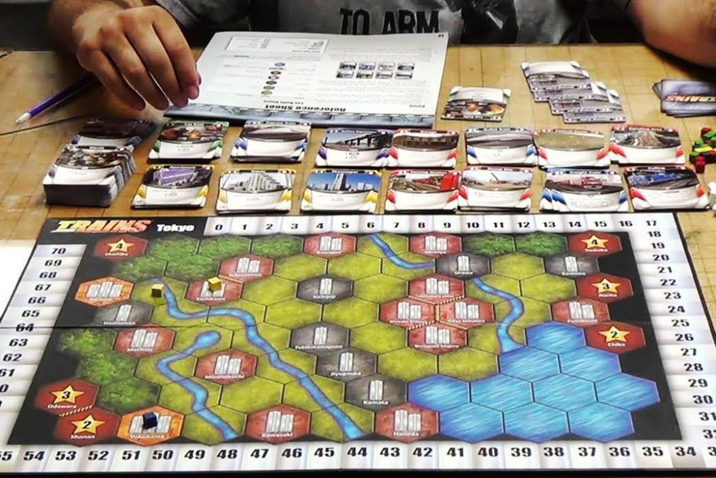 Trains Deck Building Board Game