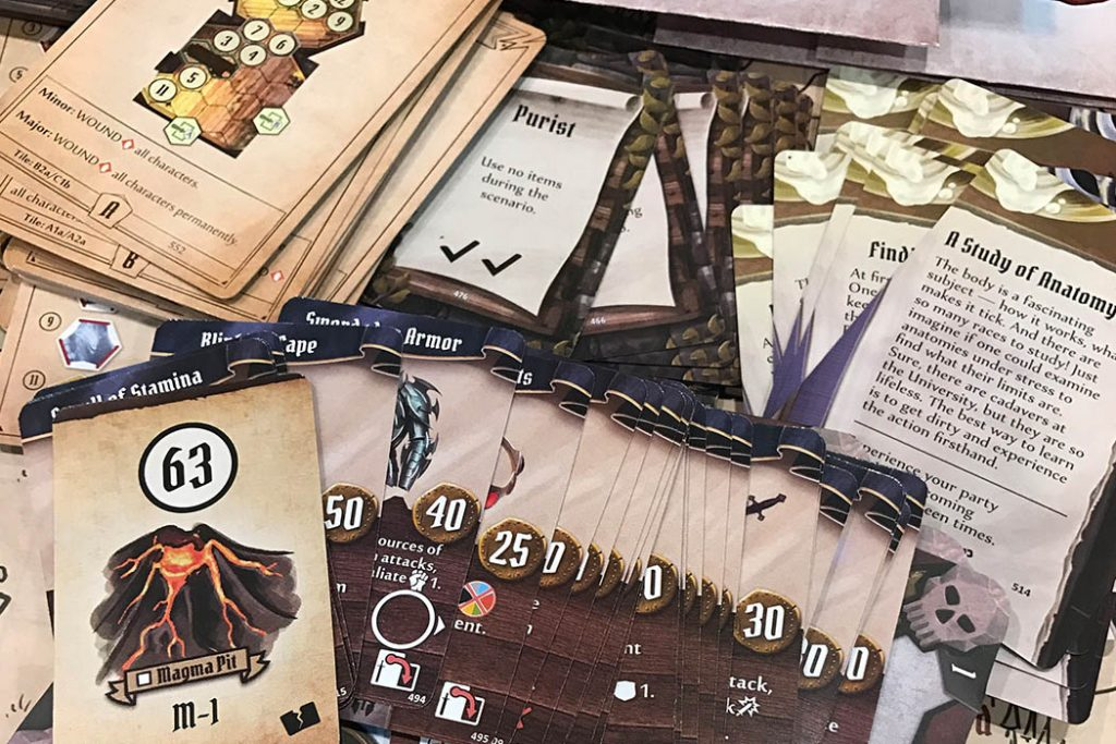 Gloomhave Board Game Components
