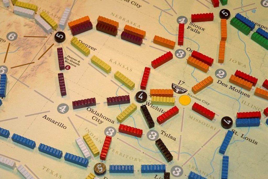 Santa Fe Rails Board Game