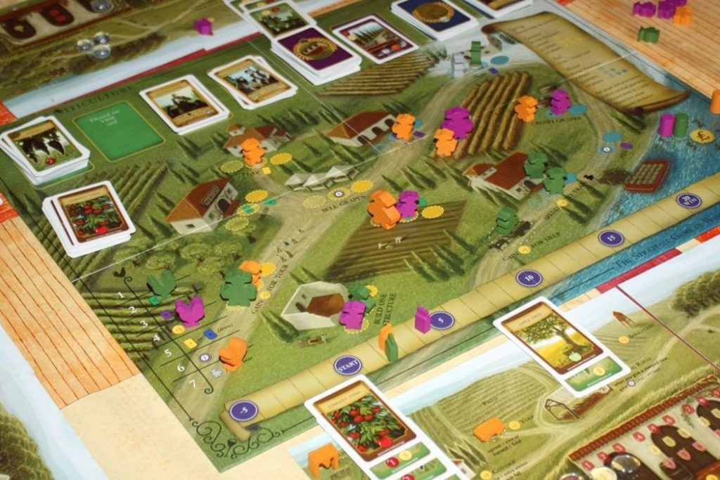 Viticulture Worker Placement Board Game