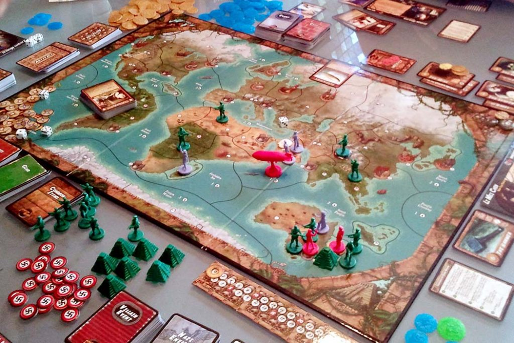 Fortune and Glory The Cliffhanger Game Board Game