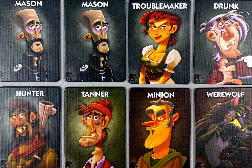 One Night Ultimate Werewolf Character Cards